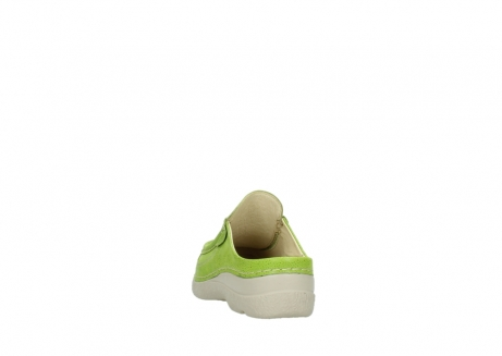 wolky clogs 06202 roll slide 90750 lime dots nubuck_6
