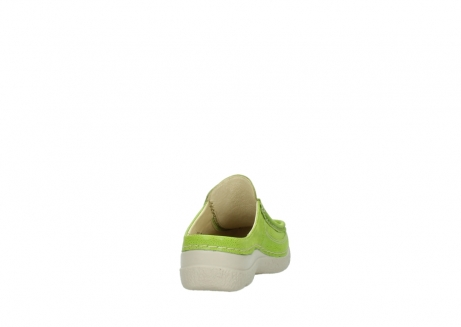 wolky clogs 06202 roll slide 90750 lime dots nubuck_8