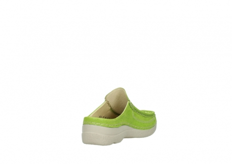 wolky clogs 06202 roll slide 90750 lime dots nubuck_9
