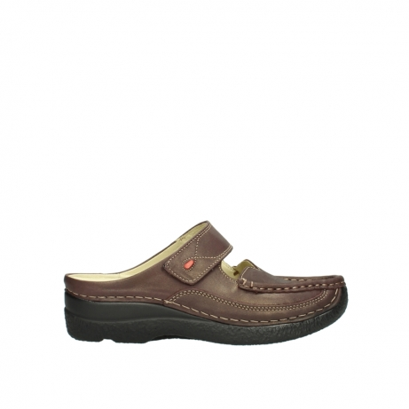wolky klompen 06227 roll slipper 10620 bordeaux metallic gemeleerd leer