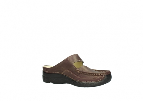 wolky klompen 06227 roll slipper 10620 bordeaux metallic gemeleerd leer_15
