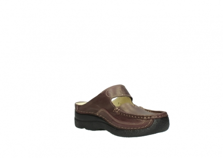 wolky klompen 06227 roll slipper 10620 bordeaux metallic gemeleerd leer_16