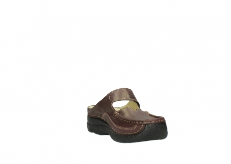 wolky klompen 06227 roll slipper 10620 bordeaux metallic gemeleerd leer_17