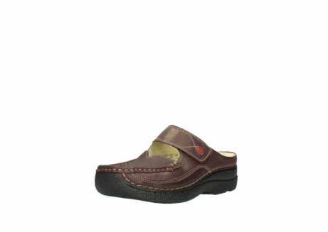 wolky klompen 06227 roll slipper 10620 bordeaux metallic gemeleerd leer_22
