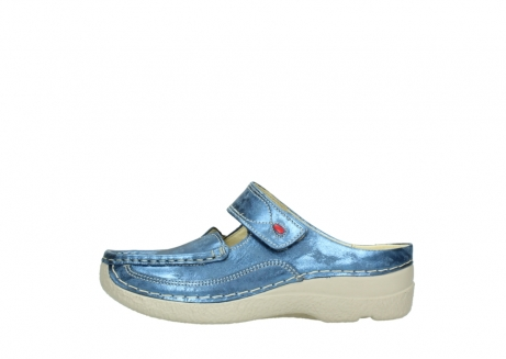 wolky clogs 06227 roll slipper 10870 blau nubukleder_1