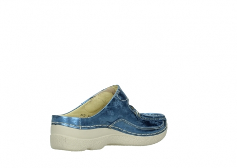 wolky clogs 06227 roll slipper 10870 blau nubukleder_10
