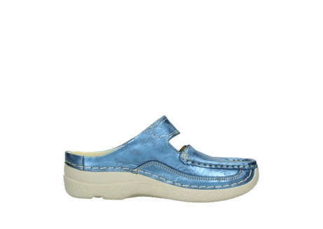 wolky clogs 06227 roll slipper 10870 blau nubukleder_13