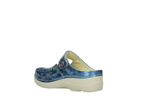 wolky clogs 06227 roll slipper 10870 blau nubukleder_4