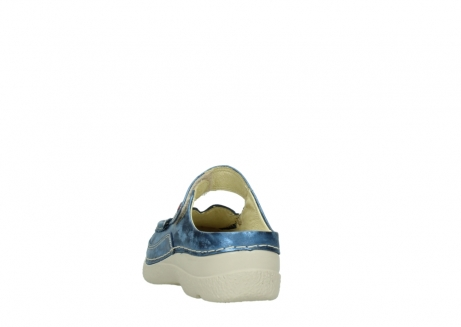 wolky clogs 06227 roll slipper 10870 blau nubukleder_6