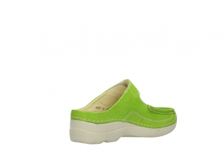 wolky pantoletten 06227 roll slipper 90750 lime dots nubuck_10