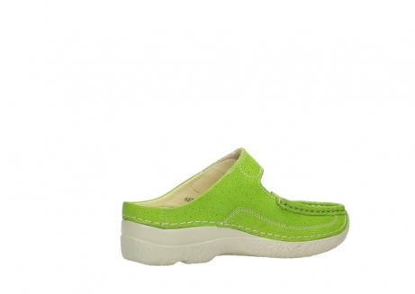 wolky pantoletten 06227 roll slipper 90750 lime dots nubuck_11