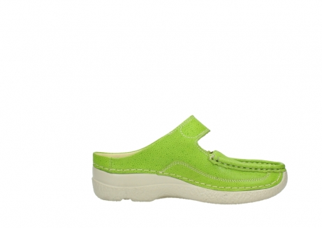 wolky pantoletten 06227 roll slipper 90750 lime dots nubuck_13