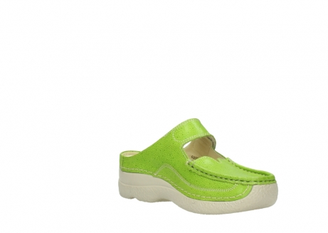 wolky pantoletten 06227 roll slipper 90750 lime dots nubuck_16