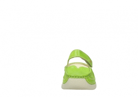wolky pantoletten 06227 roll slipper 90750 lime dots nubuck_19