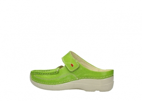 wolky pantoletten 06227 roll slipper 90750 lime dots nubuck_2