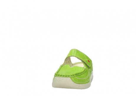 wolky pantoletten 06227 roll slipper 90750 lime dots nubuck_20