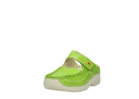 wolky pantoletten 06227 roll slipper 90750 lime dots nubuck_21