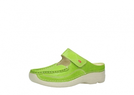 wolky pantoletten 06227 roll slipper 90750 lime dots nubuck_23