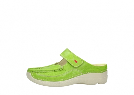 wolky pantoletten 06227 roll slipper 90750 lime dots nubuck_24