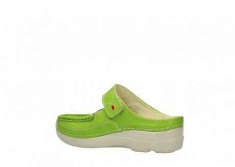 wolky pantoletten 06227 roll slipper 90750 lime dots nubuck_3