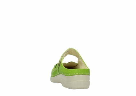 wolky pantoletten 06227 roll slipper 90750 lime dots nubuck_6