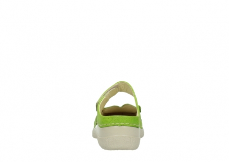 wolky pantoletten 06227 roll slipper 90750 lime dots nubuck_7