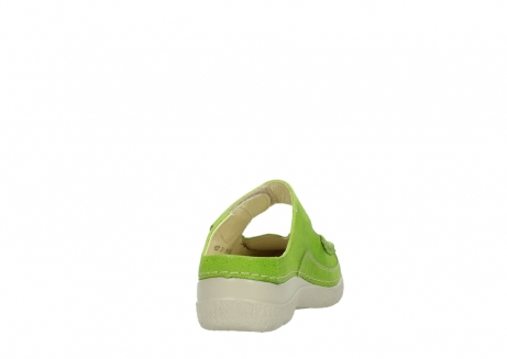 wolky pantoletten 06227 roll slipper 90750 lime dots nubuck_8