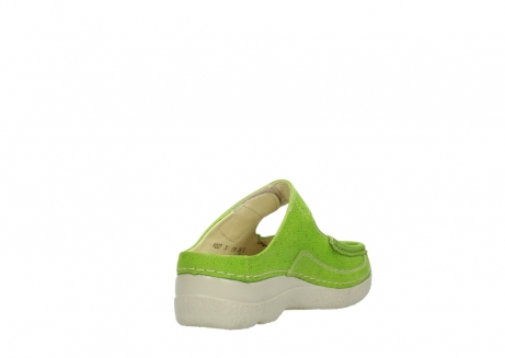 wolky pantoletten 06227 roll slipper 90750 lime dots nubuck_9