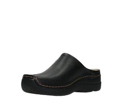 wolky slippers 06250 seamy slide 70000 black printed leather_10