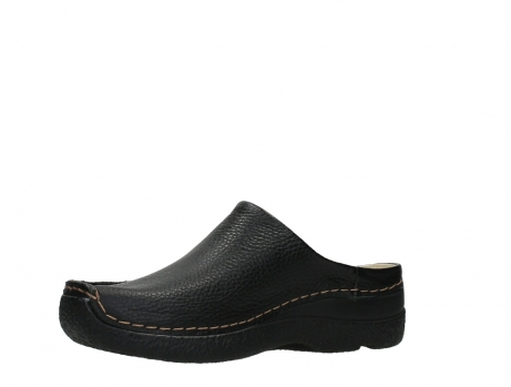 wolky slippers 06250 seamy slide 70000 black printed leather_11