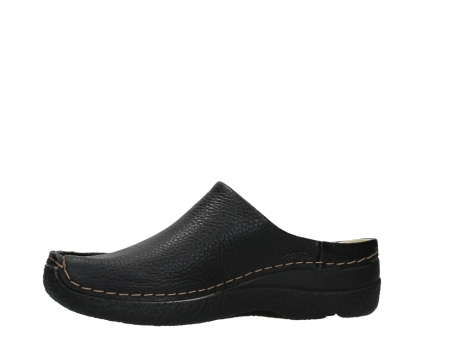 wolky slippers 06250 seamy slide 70000 black printed leather_12