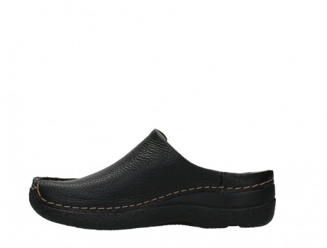wolky slippers 06250 seamy slide 70000 black printed leather_13