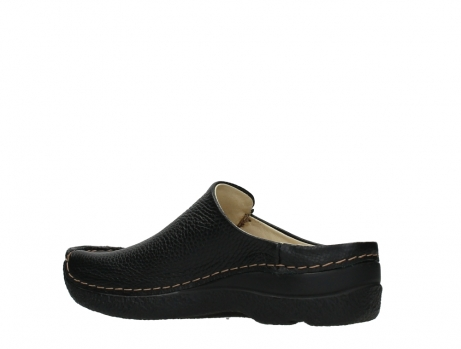 wolky slippers 06250 seamy slide 70000 black printed leather_15