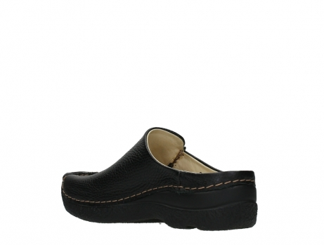 wolky slippers 06250 seamy slide 70000 black printed leather_16