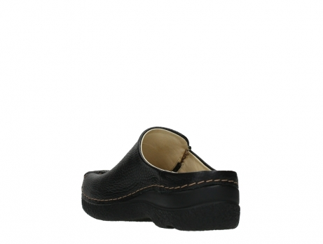 wolky slippers 06250 seamy slide 70000 black printed leather_17