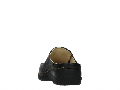 wolky slippers 06250 seamy slide 70000 black printed leather_18