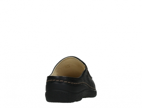wolky slippers 06250 seamy slide 70000 black printed leather_20