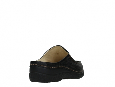 wolky slippers 06250 seamy slide 70000 black printed leather_21