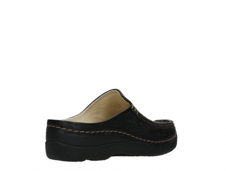 wolky slippers 06250 seamy slide 70000 black printed leather_22