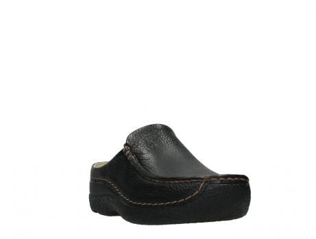wolky slippers 06250 seamy slide 70000 black printed leather_5