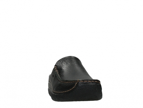 wolky slippers 06250 seamy slide 70000 black printed leather_6