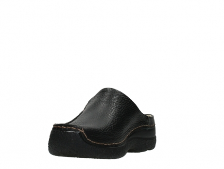 wolky slippers 06250 seamy slide 70000 black printed leather_9