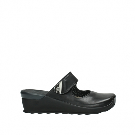 wolky clogs 2576 up 200 schwarz leder