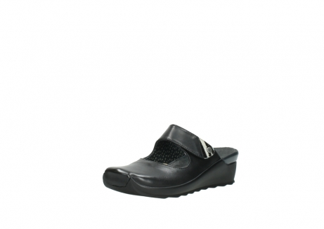 wolky clogs 2576 up 200 schwarz leder_22