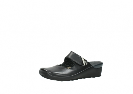 wolky clogs 2576 up 200 schwarz leder_23