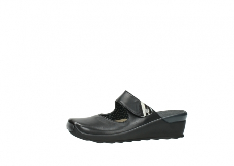 wolky clogs 2576 up 200 schwarz leder_24