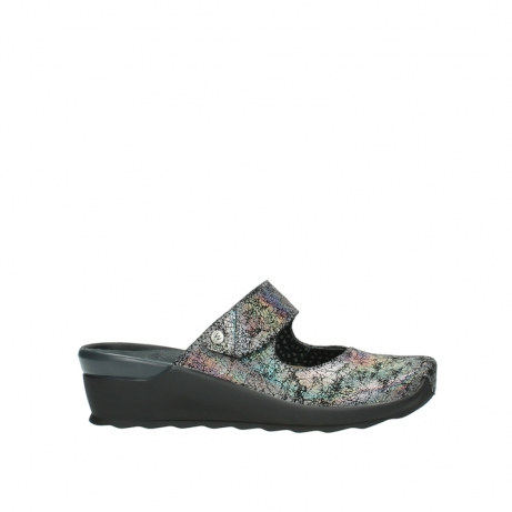 wolky clogs 2576 up 428 grau metallic veloursleder