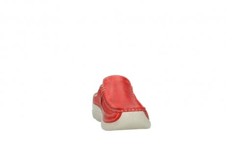 wolky klompen 6202 roll slide 357 rood leer_18