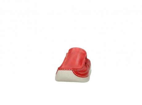 wolky klompen 6202 roll slide 357 rood leer_20