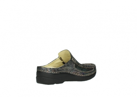 wolky clogs 6202 roll slide 428 grau metallic veloursleder_10